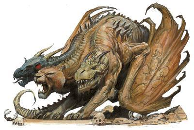 The Greek mythological creature Chimera.